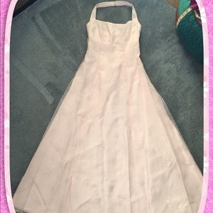 Floor length pink gown, size 7